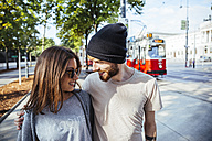 Austria, Vienna, young couple in love - AIF000361