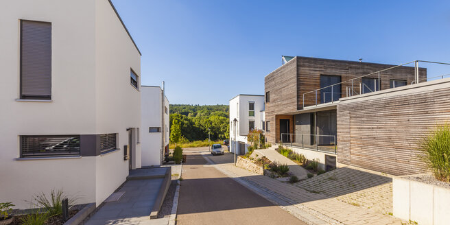 Germany, Esslingen-Zell, development area with passive houses - WDF003701