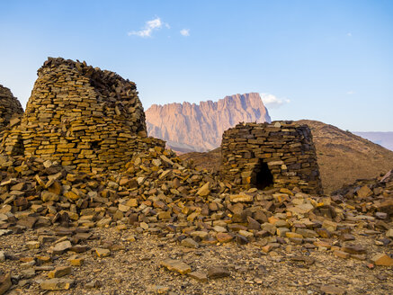 Oman, Ad-Dakhiliyah, Jabal Misht, Al-Ain, beehive tombs, site of an excavation - AMF004947