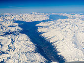 Austria, aerial view of alps with snow - AMF004951