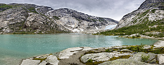 Norway, Sogn og Fjordane, Jostedalsbreen National Park, Nigardsbreen, Glacier tongue - STSF001058