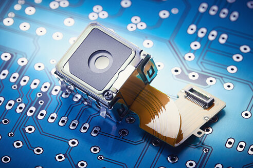Close-up of micro spy camera on printed circuit board - DSCF000198