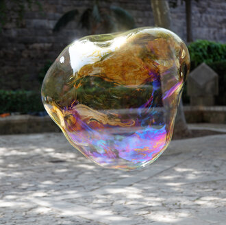 Big soap bubble, mid-air - KLRF000455
