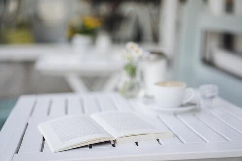 Book on table in a cafe - KNSF000216