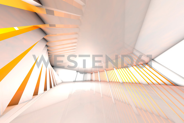 3D rendered illustration, architecture visualization of a futuristic hall - SPCF000091
