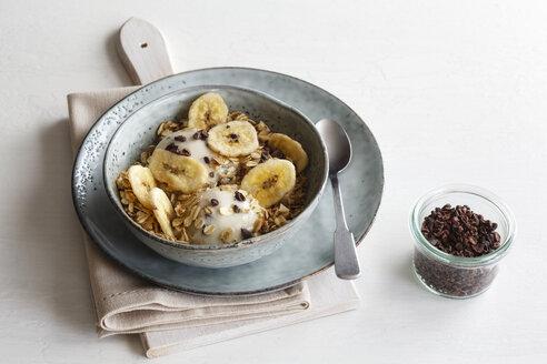 Banana icecream with oat flakes, topping, nicecream - EVGF003050