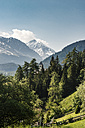 Switzerland, Grisons, Swiss Alps, Parc Ela, View of Plessur Alps in spring - CSTF001126