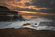 Australia, New South Wales, Maroubra, coast at sunet - GOAF000022