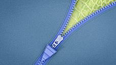 Opened zip, 3D Rendering - AHUF000215