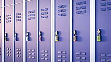 Lockers with combination lock, 3D Rendering - AHUF000221