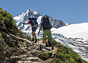 France, Chamonix,  Mountaineers at Le Tour - ALRF000648