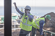 Men with reflective vests on construction site - ZEF009426