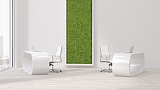 Modern office with living wall, 3D Rendering - UWF000950