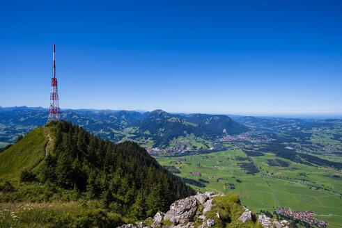 Germany, Bavaria, Allgaeu, Gruenten, Communication Tower Bavarian Broadcasting - WGF000936