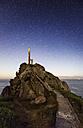 Spain, Galicia, Ferrol, Cape Prior at night - RAEF001436