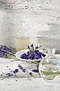 Glass bottles of lavender oil and lavender water - ASF006006