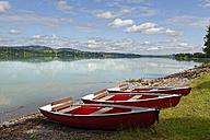 Germany, Bavaria, Swabia, East Allgaeu, Schwangau, Lake Forggensee near Fuessen - LBF001454