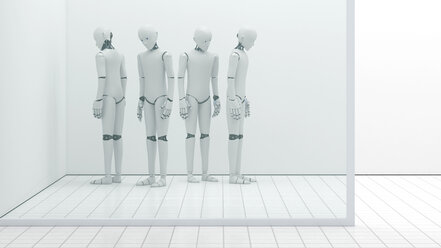 Robots out of order, storeroom, 3D Rendering - AHUF000225