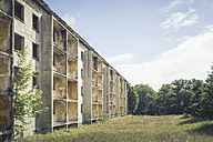 Germany, Elstal, Olympic village  decaying concrete tower block - ASCF000637