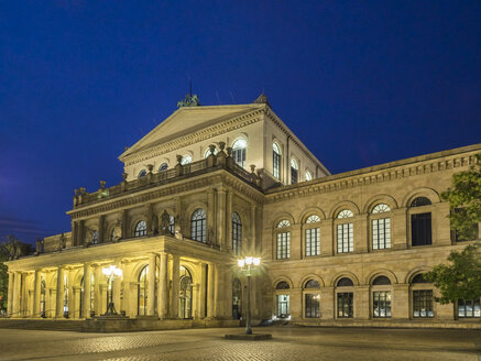 Germany, Hannover, State Opera at night - KRPF001767