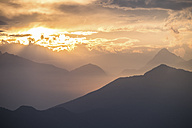 Italy, Bielmonte, Mountain landscape at sunset - SIPF000797