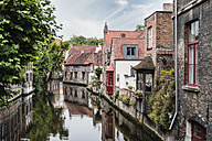 Belgium, Flanders, Bruges, old houses at canal - FRF000461