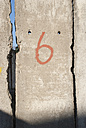 Number 6 on wall - JMF000381