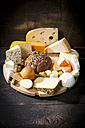 Cheese platter with different sorts of cheese - MAEF011963