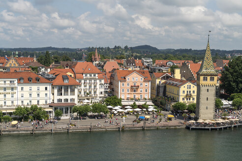 Germany, Bavaria, Lindau, old town, harbour and tower Mangenturm - PCF000268
