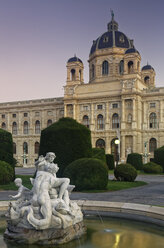 Austria, Vienna, view to Museum of Natural History at twilight - GF000762