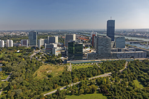 Austria, Vienna, view to Donau City  and Vienna International Centre - GFF000768