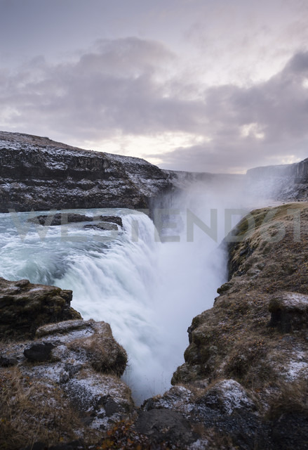 Iceland, Gullfoss waterfall at dusk - EPF000154
