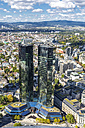 Germany, Hesse, Frankfurt, Cityscape with Deutsche Bank, high-rise buildings - MAB000388