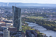 Germany, Frankfurt, view to European Central Bank and Main River from Main Tower - MABF000398