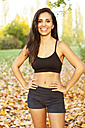 Portrait of smiling female athlete outdoors - MFF003169