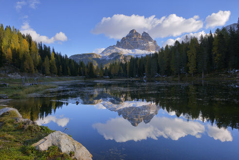 Italy, Dolomites, Tre Cime di Lavaredo at morning light - RUEF001753