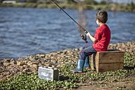 Little boy fishing in lake - ZEF010227