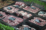 Meat on display in butchery - ZEF010305