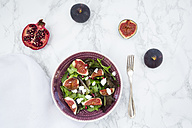 Mixed salad with goat cheese, pomegranate seeds and figs - LVF05322