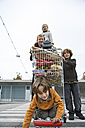 Father goes shopping with his children - FSF00463