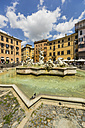 Italy, Rome, Fountain of Neptune at Piazza Navona - THAF01730