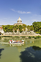 Italy, Rome, view to tourboat on Tiber River - THA01733