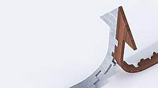 Wood and stone arrow - AHUF00249