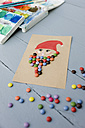 Christmas card made of water colours and chocolate drops - GISF00252