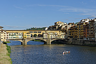 Italy, Tuscany, Florence, Ponte Vecchio and Arno river - LB01477