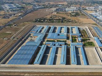 Spain, Mallorca, Palma de Mallorca, Aerial view of prison - AMF04972