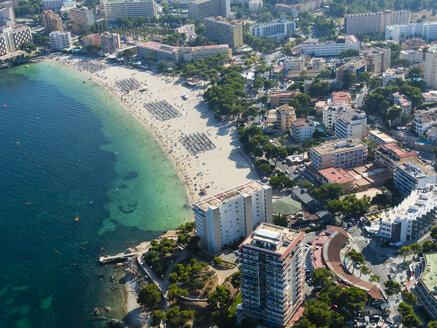 Spain, Mallorca, Palma de Mallorca, Aerial view, beaches and hotels of Palmanova and Torrenova - AMF04978