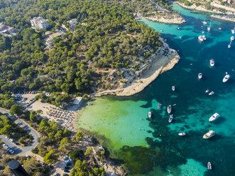 Spain, Mallorca, Palma de Mallorca, Aerial view, El Toro, beach near Portals Vells - AMF04984