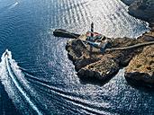 Spain, Mallorca, Palma de Mallorca, Aerial view, Cap de Cala Figuera, lighthouse - AMF04987