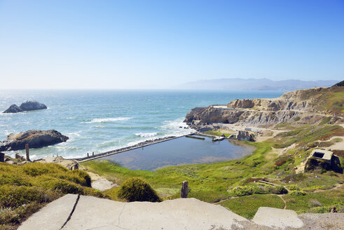 USA, California, San Francisco, ruins of Sutro Baths at Sutro Heights Park - BRF01396